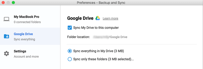 add google drive stoarge