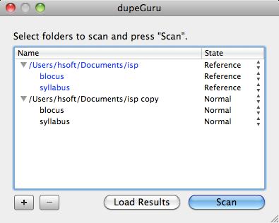 dupeguru scan