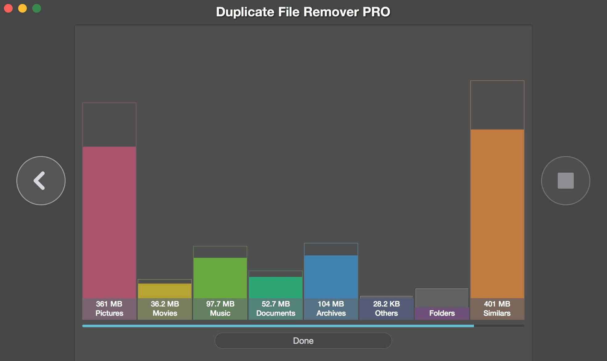 Duplicate File Remover Pro chart