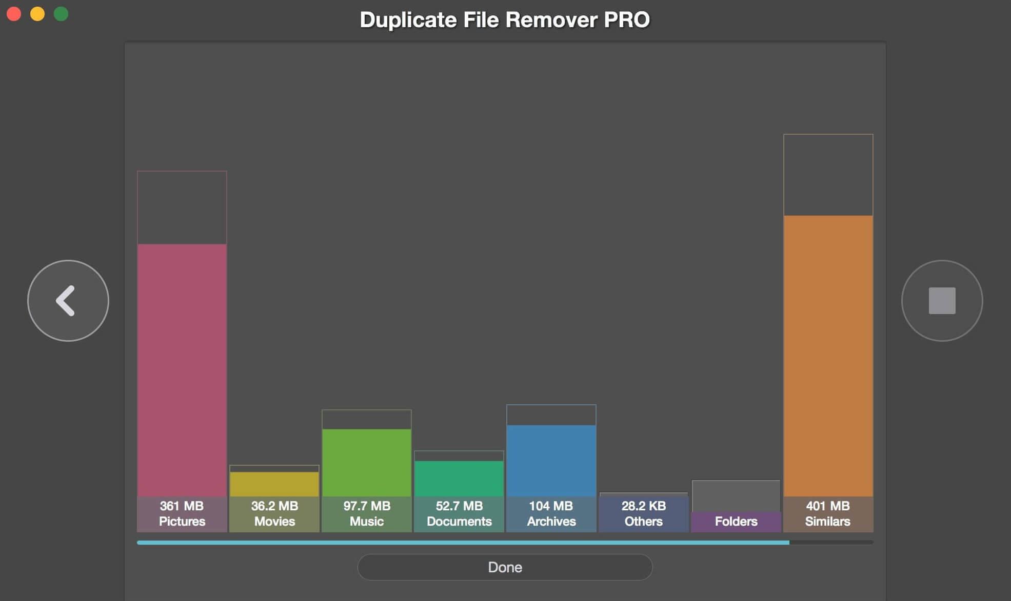 Duplicate File Remover Pro chart